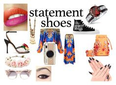 """""""Bold Statement Of The Year"""" by fallen-wolf ❤ liked on Polyvore featuring Bling Jewelry, Turkish Delight, Charlotte Olympia, Marina Hoermanseder, Forever 21, Jimmy Choo, Kate Spade and statementshoes"""