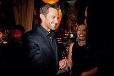 Hugh Jackman with Amova's gift