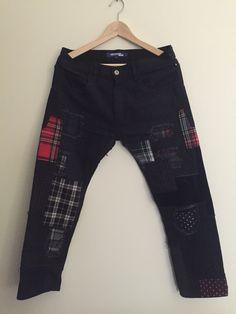 https://www.grailed.com/listings/546047-Junya-Watanabe-black-patchwork-pant
