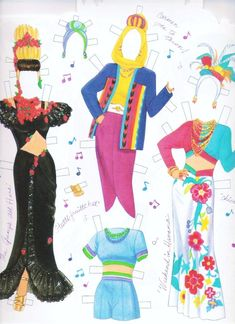 1998 Carmen Miranda paper doll clothes / eBay