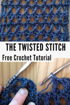 Free crochet pattern for the twisted stitch with beginner crochet tutorial crochet crocheting twistedstitch crochetstitchpattern crochetutorial freecrochetpatterns crochetpattern Crochet Stitches For Blankets, Crochet Stitches Free, Crochet Stitches For Beginners, Tunisian Crochet, Learn To Crochet, Crochet Blanket Patterns, Beginner Crochet Patterns, Different Crochet Stitches, Sewing Patterns