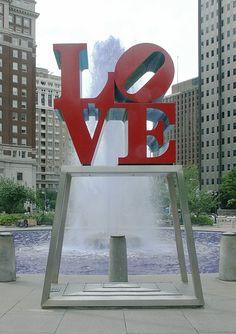 LOVE, Kennedy Plaza    Robert Indiana  1976. painted aluminum