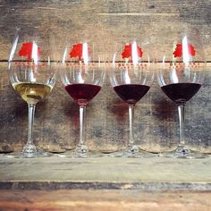 #Regram @beckmenvineyards 🍷 🍷 🍷 🍷 Loving the color spectrum of our newly released wines: Marsanne, Grenache, Syrah and Cabernet!  #thirsty #yesplease #vintage2015 #drinkwine #organicwine #biodynamicwine #winelover #instawine #cabernetsauvignon #syrah #grenache #marsanne #newrelease #wineclub #winetasting #ballardcanyon #losolivosdistrict #santabarbara #santaynezvalley #sbcwine #beckmen #beckmenwine #beckmenvineyards