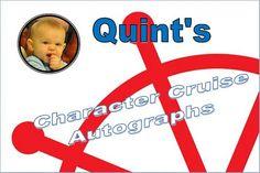 Disney Autograph Book  personalized photo Character Cruise ~blue ship wheel album keepsake , Character 4x6 Custom Flip Favor Birthday Book