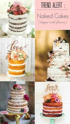 Trend Alert :: Naked Cakes Topped with Flowers — Celebrations at Home