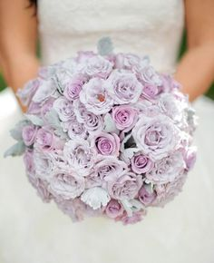Purple Bridal Bouquet | Photo by Troy Grover Photographers