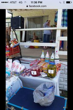 Boy first birthday vintage TOYLAND Candy table buffet