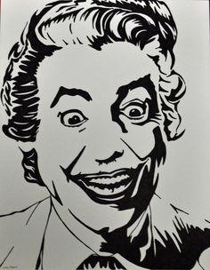 The Joker Sharpie Drawing by allenspearsart on Etsy, $25.00