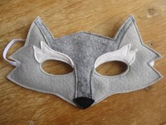 Felt Wolf mask. Halloween.