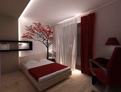 bedroom idea photo wallpaper / wall mural #wallpaper #wallmural #photowallpaper #bedroom #interior