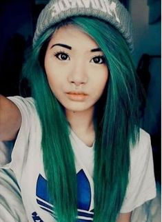 Let's just talk for a moment how great Asian ladies look with dyed hair. - Long Hair - - Let's just talk for a moment how great Asian ladies look with dyed hair. Pelo Emo, Coloured Hair, Dye My Hair, Hair Blog, New Hair Colors, Grunge Hair, Pretty Hairstyles, Hairstyle Ideas, Scene Hairstyles