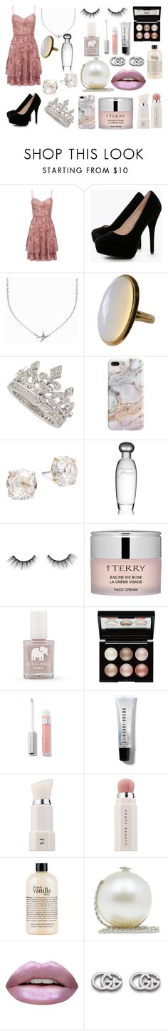 Prom? by samdietrich on Polyvore featuring Forever New, Boohoo, Chanel, Minnie Grace, Kate Spade, Gucci, Recover, Witchery, Huda Beauty and Puma