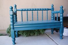A blog with TONS of headboard/footboard/crib benches.  One of my faves! @Gina Croft
