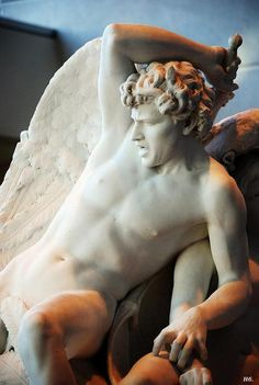 Detail: The Rebel Angels. Salvatore Albano , Italian, (marble)1841-1893 Brooklyn museum of Art. NYC