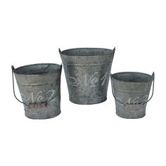 French Script Buckets