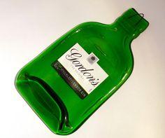 Flattened Gordon's gin bottle for hanging on the by KilnFiredArt, £9.00