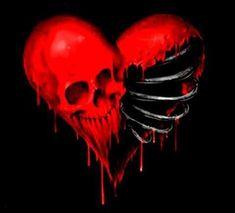 "Happy ""Bloodyntane"" for ya all; Broken Heart Drawings, Broken Heart Art, Skull Tattoo Flowers, Skull Rose Tattoos, Princesas Disney Zombie, Arte Emo, Totenkopf Tattoos, Skull Pictures, Skull Artwork"