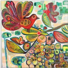 mirka mora art - Google Search Artwork Images, Cool Artwork, Art Pictures, Bird Illustration, Illustrations, Modern Art Artists, Cheap Art, Naive Art, Australian Artists