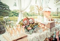 For our recent DIY Styling section, we gave stylists the task to create a beautiful champagne bar inspired by a rustic country wedding. Chic Wedding, Spring Wedding, Floral Wedding, Wedding Styles, Rustic Wedding, Our Wedding, Dream Wedding, Wedding Ideas, Perfect Wedding