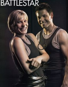 2 for 1. Katee Sackhoff and Jamie Bamber.