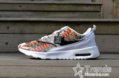 new concept d20fc 9dc7a Liberty X Nike Air Max Thea Merlin Summer Collection White Black Womens  Shoes 746082-100