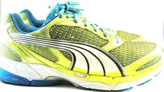 Puma Men Athletic Shoes Size 11 Yellow Blue.  MMM 62 #Puma #AthleticSneakers