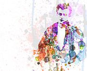Watercolor Paintings - James Dean by Irina  March