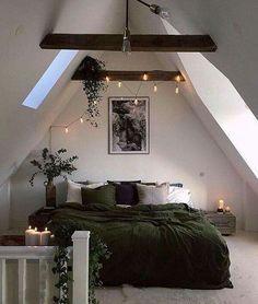Schlafen unter Dachschrägen und -balken