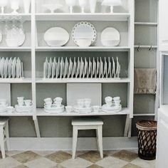 Looking for an easy way to make a plate rack?  Here's a suggestion.