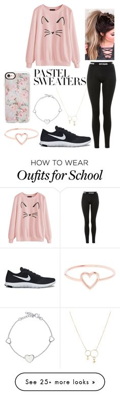 """Pastel Sweaters contest #2"" by mina-lisha on Polyvore featuring Topshop, Casetify, NIKE, Zimmermann, Love Is and BERRICLE"