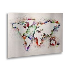 Made in the USA. Artist: Michael TompsettSubject: MapsStyle: ContemporaryProduct Type: Floating Brushed Aluminum Art Piece, Ready to Hang This ready to hang, floating brushed aluminum art piece featur