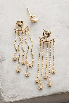 Image result for (crescent, moon) star earrings anthropologie