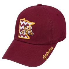 Adult Top of the World Minnesota Golden Gophers Chevron Logo Cap, Dark Red
