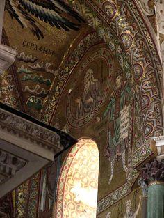ВИЗАНТИЯ В КАРТИНКАХ - Орнаментальные мозаики из Собора в Чефалу, Сицилия