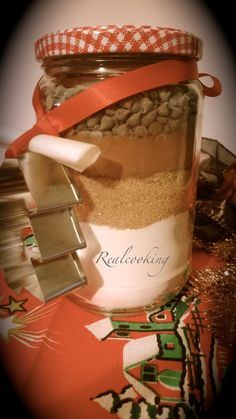 biscotti in realcooking Christmas Time, Xmas, Cookie Box, Jar Gifts, Little Gifts, Biscotti, Kitchen Decor, Mason Jars, Food And Drink