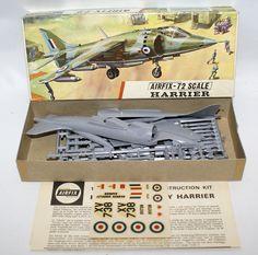 Vintage AIRFIX 1:72 Scale HAWKER SIDDELEY HARRIER Fighter Jet Plane Model Kit 266