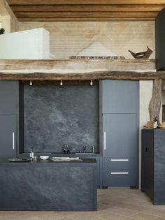 Wohnideen Kche Design Dunkekfarbig Holzelemente