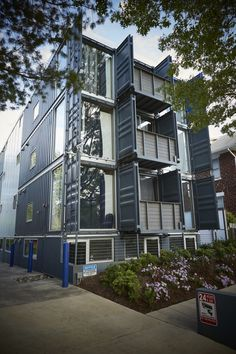 Is shipping-container building 'the best thing since the brick?' - The Washington Post Shipping Container Restaurant, Shipping Container Buildings, Shipping Container Homes, Shipping Containers, Container Home Designs, Container Shop, Container Houses, Container Office, Container Architecture