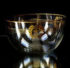 1 Jugendstil Schale Kristall Josephinenhütte Kunstglas, Kristall, Antikglas gold