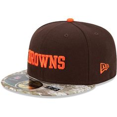 New Era Men's Cleveland Browns Salute To Service Camo 59Fifty Fitted Cap 73/8 #NewEra