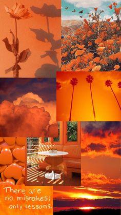 aesthetic orange wallpaper
