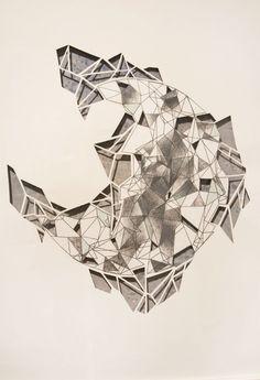 Amanda Schrembeck: Taking Shape #4. Photolitho, screenprint, monotype and cut paper.