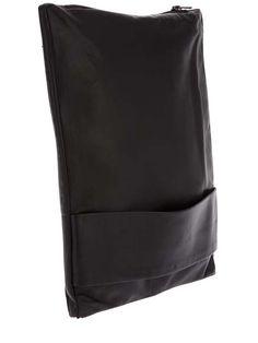 Rad Hourani black leather folded clutch