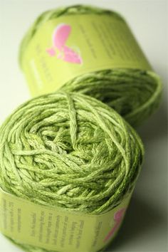 """Be Sweet Bamboo Yarn in 651 Lime   """"Be Sweet donates a portion of its profits back to support educational development in South Africa."""""""