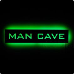 Lighted Man Cave Sign by LuxChroma on Etsy, $75.00