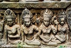 Historic building in Angkor wat Thom Cambodia - Stock Photo , Angkor Wat, Cambodia, Carving, Stock Photos, Statue, Building, Illustration, Beautiful, Collection