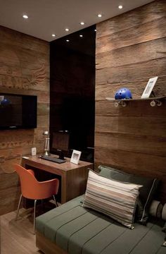 Chamada para criar um apartamento decorado para um empreendimento no bairro de Santana, na Zona Norte de São Paulo, a designer de… Spa Bedroom, Home Office Bedroom, Chalet Interior, Interior And Exterior, Interior Design, Apartment Design, Home And Living, Room Inspiration, Room Decor