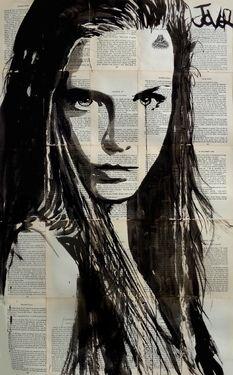 "Saatchi Online Artist Loui Jover; Drawing, ""icelandia (SOLD)"" #art"