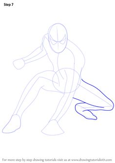 Learn How to Draw Spiderman (Spiderman) Step by Step : Drawing Tutorials Spiderman Sketches, Spiderman Drawing, Spiderman Spiderman, Spiderman Pictures, Learn Drawing, Learn To Draw, Pencil Art Drawings, Step By Step Drawing, Drawing Tutorials