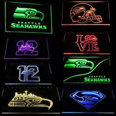 Seahawks Gear, Seattle Seahawks, Led Signs, Colors, Colour, Color, Paint Colors, Hue